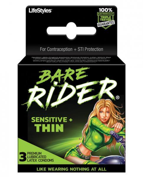 Bare Rider Thin Latex Condom 3 Pack