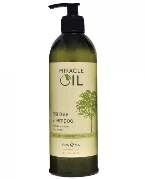 Earthly Body Miracle Oil Shampoo 16oz Tea Tree