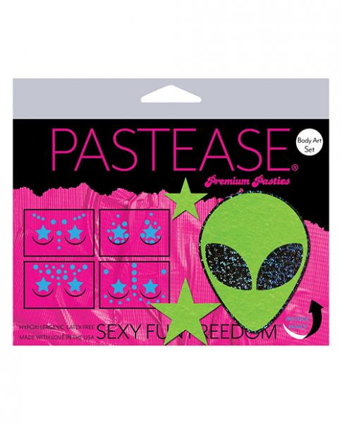 Pastease Body Set Glitter Alien  - Green O/s
