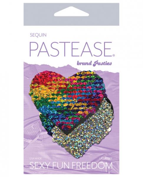 Pastease Color Changing Flip Sequins Heart Rainbow O/S