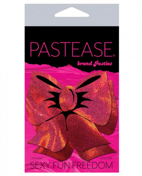 Pastease Hologram Bows Red Pasties