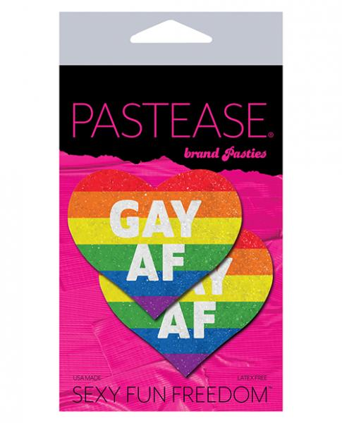 Pastease Glitter Rainbow Gay AF Hearts Pasties