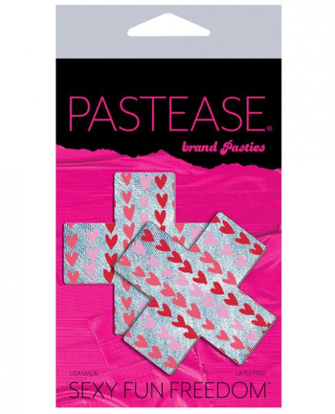 Pastease Plus with Hearts Light Denim O/S