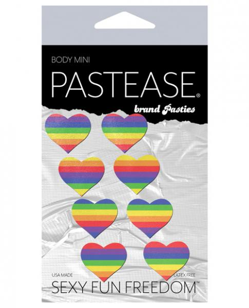 Pastease Mini Rainbow Heart Pack Of 8 O/S