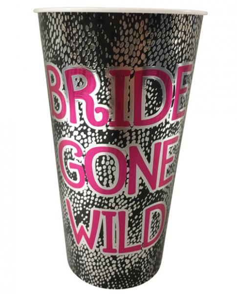 Bride Gone Wild Foil Drinking Cup