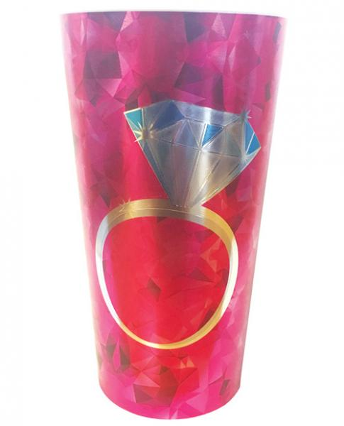 Diamond Ring Foil Drinking Cup Pink