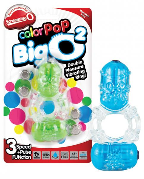 Color Pop Big O 2 Double Cock Ring Assorted Colors