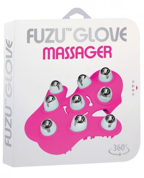 Fuzu Glove Massager Neon Pink