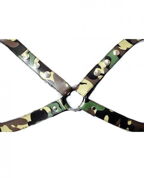 Sensual Sin Leather X Harness Camo S/M
