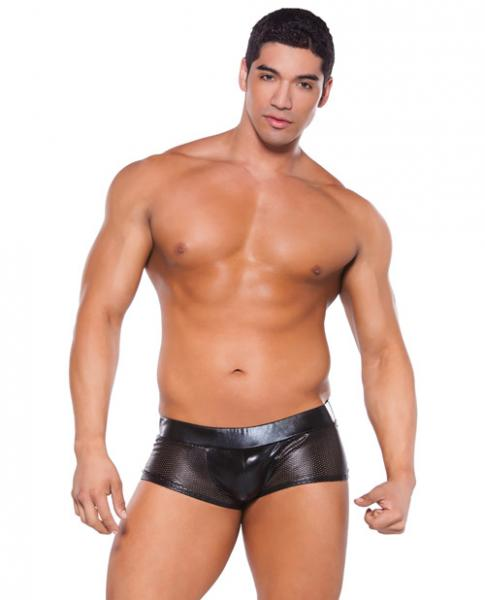 Wet Look Shorts Black O/S