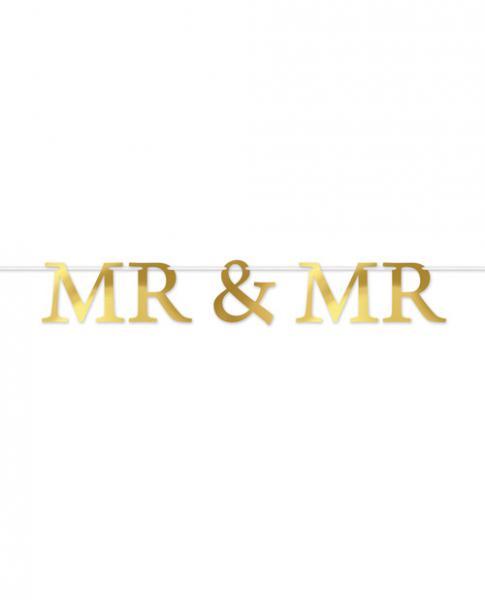 Foil Mr & Mr Streamer Party Decoration Banner