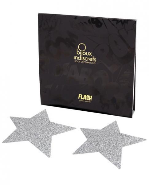 Flash Star Pasties Silver