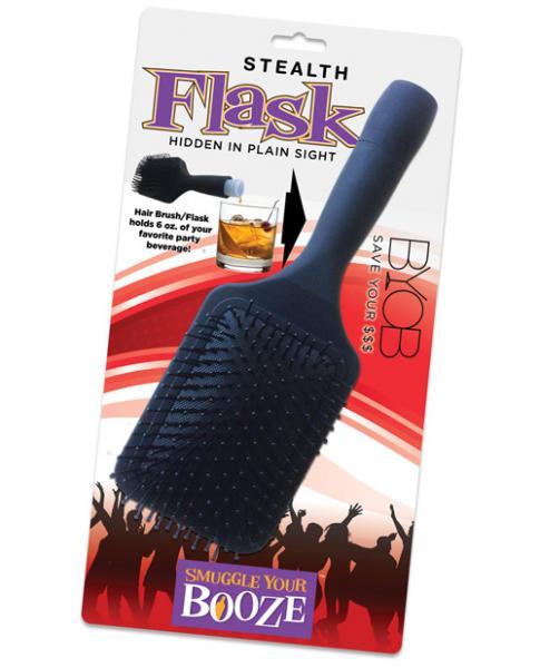 Smuggle Your Booze Brush Flask Black