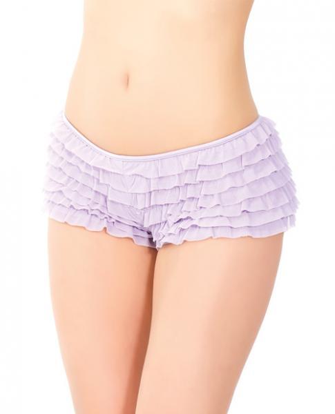 Ruffle Shorts Back Bow Detail Lilac XXL