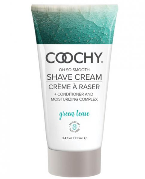 Coochy Shave Cream Green Tease 3.4 fluid ounces