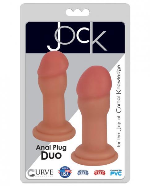 Jock Anal Plug Duo 2 Piece Set Vanilla Beige