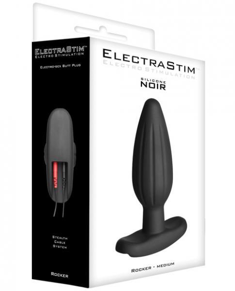 Electrastim Medium Rocker Butt Plug Black