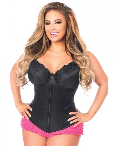 Underbust Corset Zip Up Front Black 6X