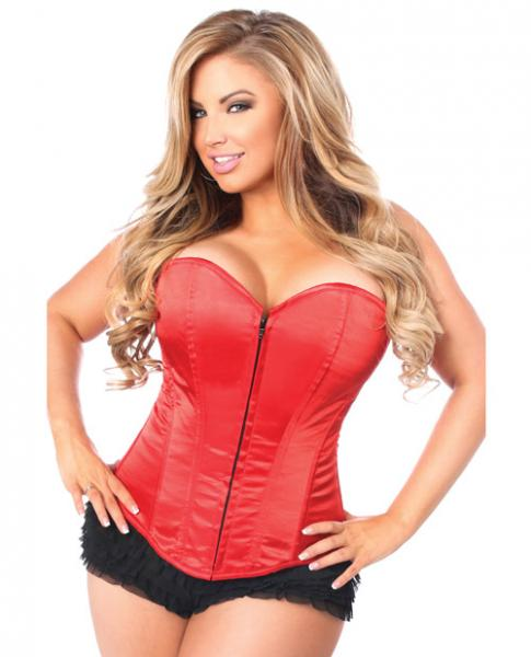 Overbust Corset Zip Up Front Red 5X
