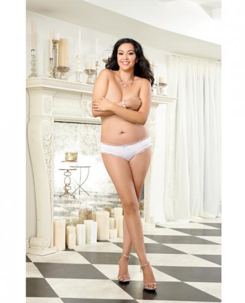Microfiber Cheeky Panty Bride White 1X/2X