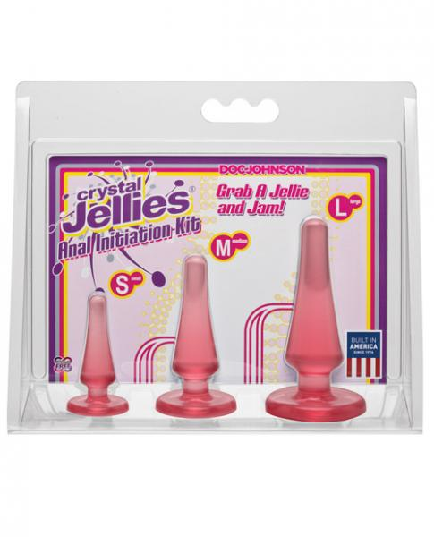 Crystal Jellies Anal Initiation Kit Pink