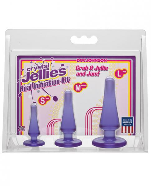Crystal Jellies Anal Initiation Kit Purple