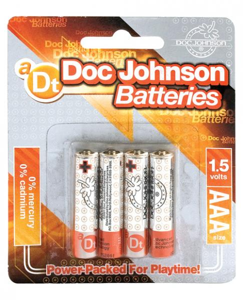 Doc Johnson AAA Batteries 4 Pack