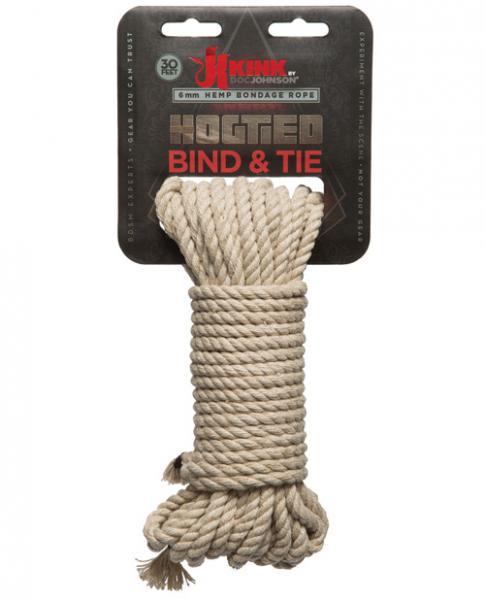 Kink Bind & Tie Hemp Bondage Rope - 30 Ft