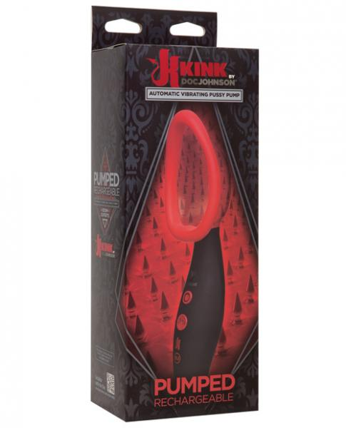 Kink Pumped Vibrating Pussy Pump Black Red