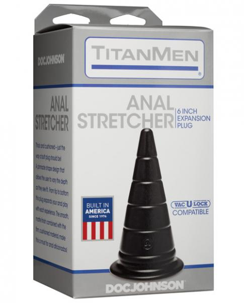 Titanmen Anal Stretcher 6 inches Expansion Plug Black