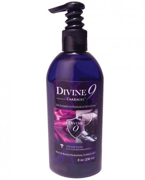 Divine 9 Water Based Lubricant Bottle 8oz