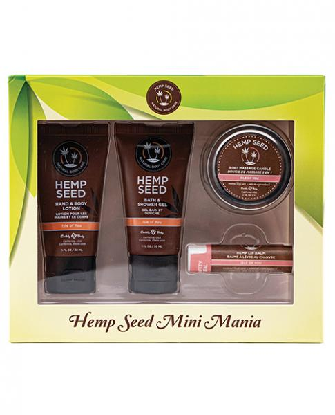 Earthly Body Hemp Seed Mini Mania Kit Isle Of You