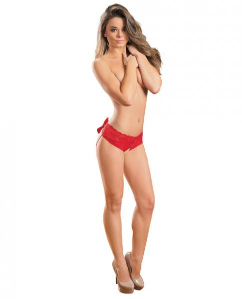 Holiday Open Back Panty Red O/S