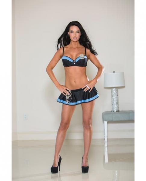 Police Skirt Set Blue Small