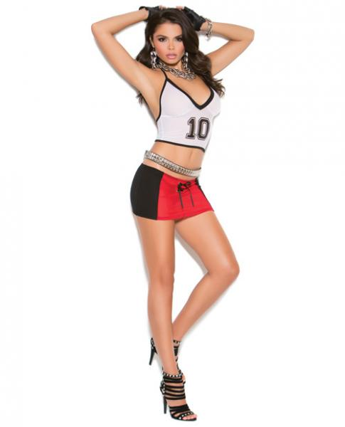Vivace Touch Down Babe Cami Top & Mini Skirt Black O/S