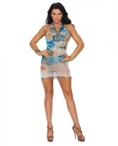 Vivace Crochet Mini Dress Fringe Trim Multi Color O/S