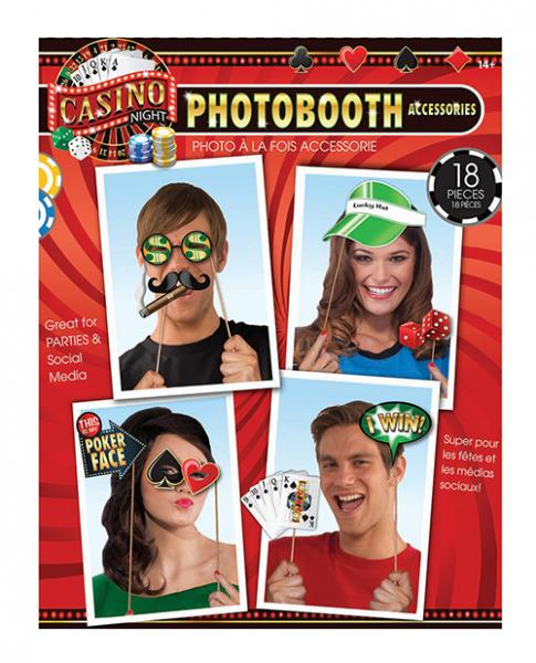 Casino Photo Booth Prop Kit 18 Pieces