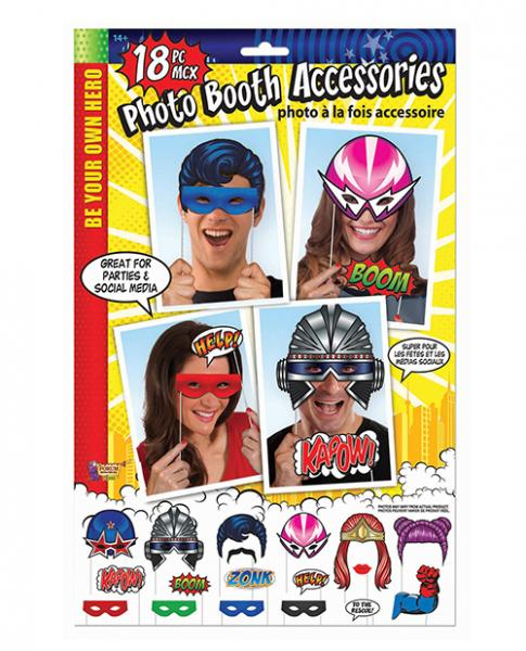 Be Your Own Hero Photo Booth Prop Kit 18 Pieces
