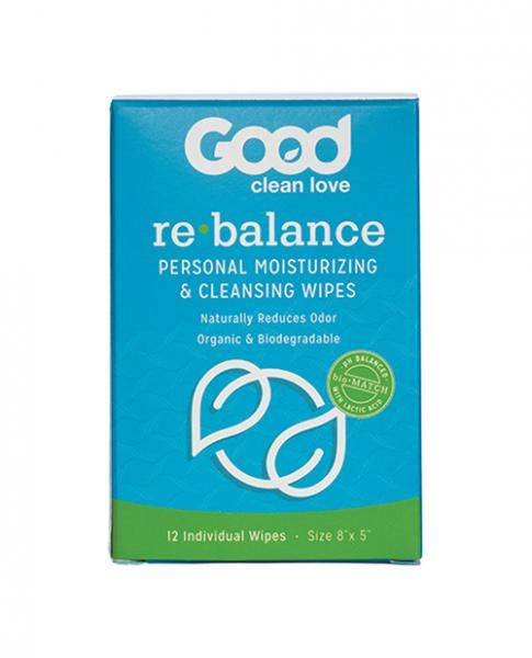 Good Clean Love Rebalance Adult Wipes Box Of 12
