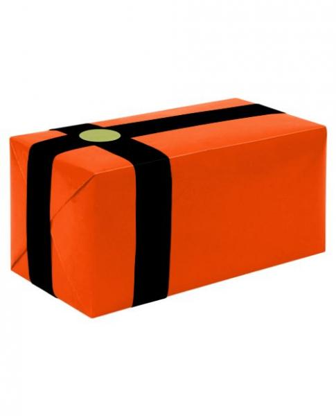 Gift Wrapping For Your Purchase Orange Black Ribbon Extra Day To Ship
