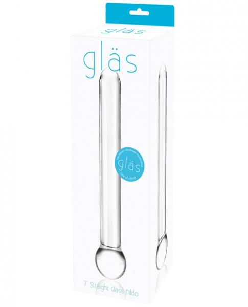 Glas 7 inches Straight Glass Dildo Clear