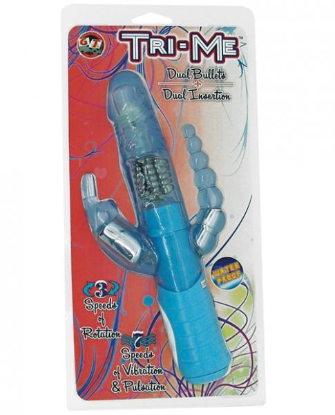 Tri Me Triple Stimulation Vibrator - Blue