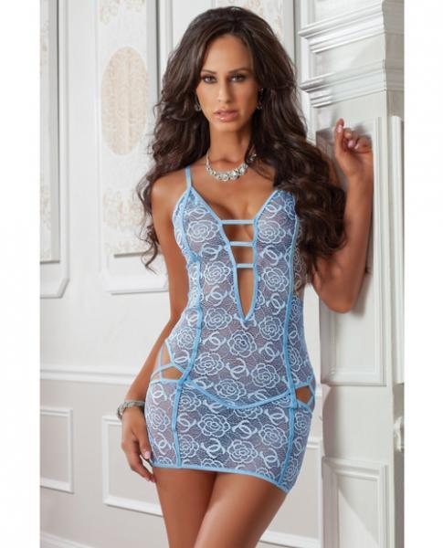 Cheeky Strappy Night Dress Blue Jay O/S