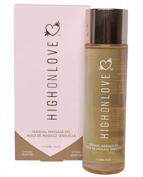 High On Love Hemp Massage Oil Lychee Martini 4oz