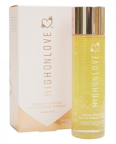 High On Love Hemp Massage Oil - Decadent White Chocolate