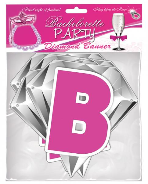 Diamond Party Banner 9ft long