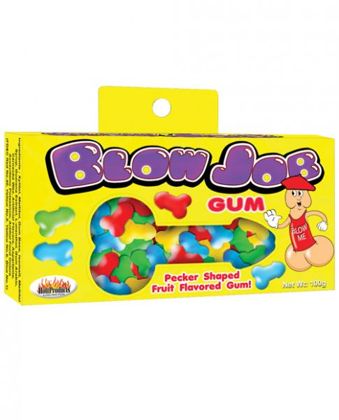 Blow Job Pecker Shaped Bubble Gum Fruit Flavored 3.5oz