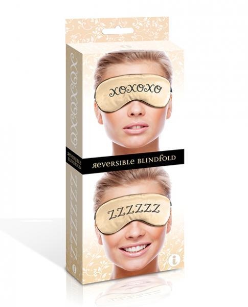 XOXO ZZZ Reversible Satin Blindfold O/S
