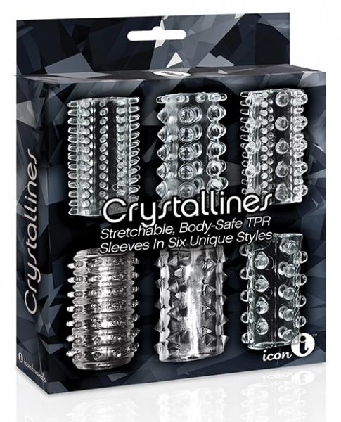 Crystalline TPR Cock Sleeve 6 Pack Clear