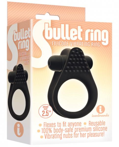 The S Bullet Silicone Ring Black
